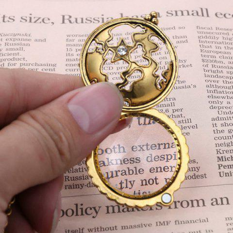 Store Cut Out Magnifying Glass Sweater Chain - COPPER COLOR  Mobile