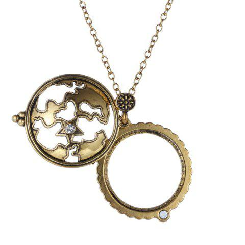 Affordable Cut Out Magnifying Glass Sweater Chain - COPPER COLOR  Mobile