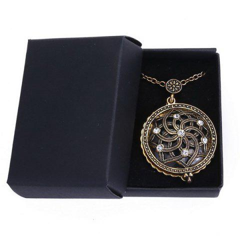 Outfits Retro Rhinestone Floral Magnifying Glass Sweater Chain - COPPER COLOR  Mobile
