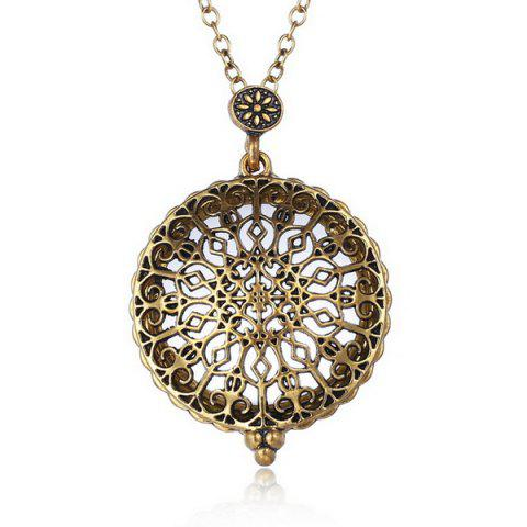 Fancy Round Filigree Magnifying Glass Sweater Chain