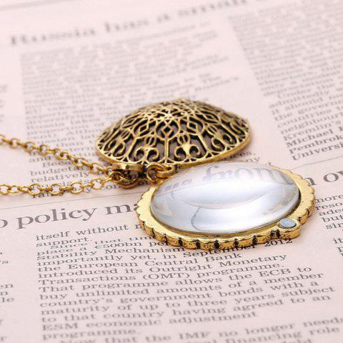 Latest Round Filigree Magnifying Glass Sweater Chain - COPPER COLOR  Mobile