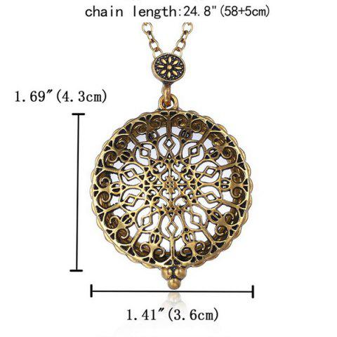 Store Round Filigree Magnifying Glass Sweater Chain - COPPER COLOR  Mobile