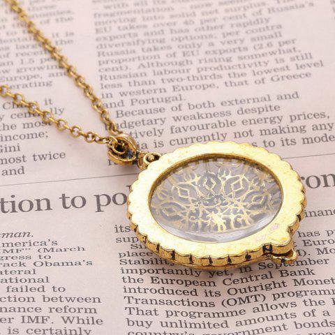 Outfits Round Filigree Magnifying Glass Sweater Chain - COPPER COLOR  Mobile