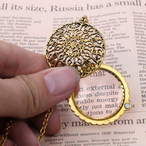 Outfit Round Filigree Magnifying Glass Sweater Chain - COPPER COLOR  Mobile