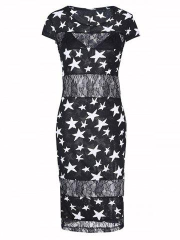 Unique Charming Star Lace Bodycon Dress For Women