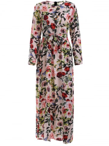 New Stunning Floral Blossom Belted Dress