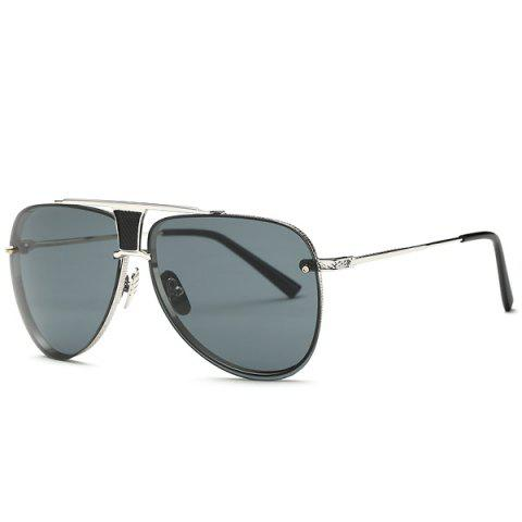Stylish Frameless Pilot Sunglasses - Gray