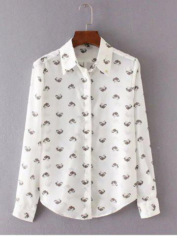 Buy Printed Chic Long Sleeve Shirt