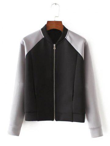 Shops Long Sleeve Stand Collar Bomber   Jacket