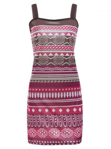 Buy Square Neck Printed A-Line Aztec Print Dress