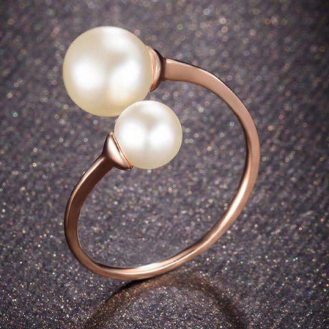 Store Faux Pearl Rose Gold Cuff Ring