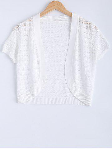 Hollow Out Ribbed Knitted Cardigan For Women