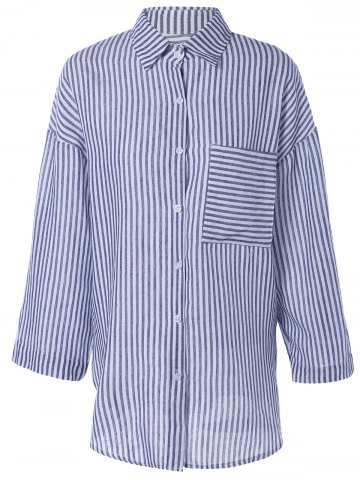 Buy Brief Single Pocket Striped Shirt