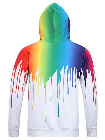 Outfit New Look Paint Splash Print Long Sleeve Hoodie For Men - M WHITE Mobile