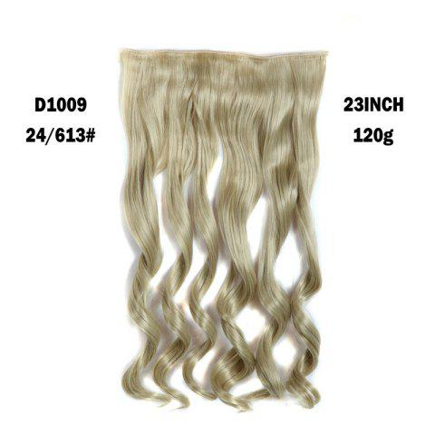 Latest Fashion Long Capless Fluffy Wavy Clip In Women's Synthetic Hair Extension PLATINUM