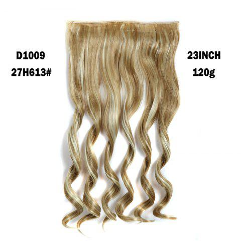 New Fashion Long Capless Fluffy Wavy Clip In Women's Synthetic Hair Extension