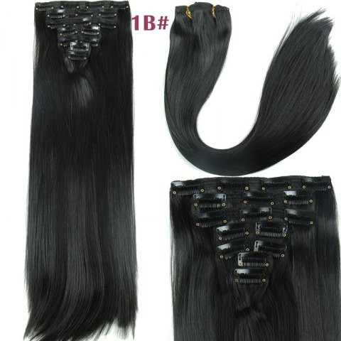 Buy Long Straight Clip-In Synthetic Stylish Hair Extension For Women