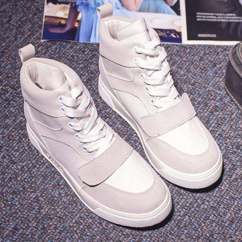 Fashion Fashion Lace-Up and Suede Design Athletic Shoes For Women