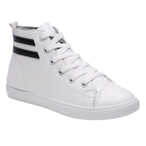 Fancy Casual Lace-Up and Round Toe Design Athletic Shoes For Women