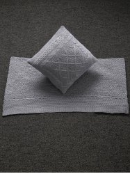 Home Decor Warm Comfortable Rhombus Knitted Pillow Case and Blanket -