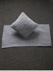 Home Decor Warm Comfortable Hemp Flowers Knitted Pillow Case and Blanket -