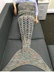 Comfortable Cut Out Rhombus Design Knitting Mermaid Shape Blanket