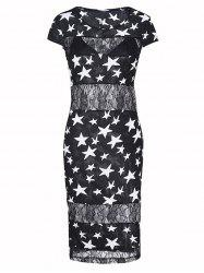 Charming Star Lace Bodycon Dress For Women -