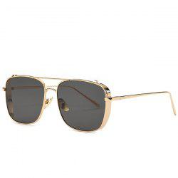 Stylish Metal Frame Rectangle Sunglasses For Women