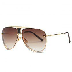 Stylish Frameless Pilot Ombre Sunglasses For Women - TEA-COLORED
