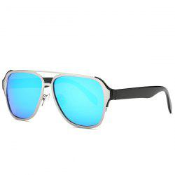 Stylish Cut Out Pilot Mirrored Sunglasses For Women -