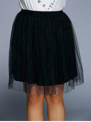 Plus Size Tulle Ball Gown Skirt -