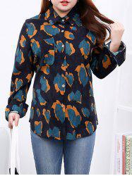 Plus Size Chic Single Pocket Corduroy Shirt