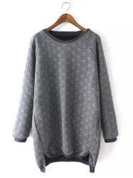 Plus Size Casual Polka Dot Pattern Sweatshirt