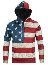 Chic Flag Print Long Sleeve Hoodie For Men