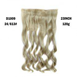 La mode Long capless Fluffy Wavy clip Dans Women 's  Synthetic Hair Extension - Platine