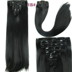 Long Straight Clip-In Synthetic Stylish Hair Extension For Women -