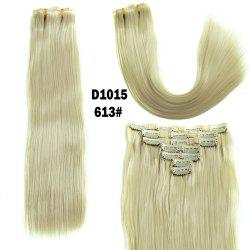 Long Straight Clip-In Synthetic Stylish Hair Extension For Women - BLONDE #613