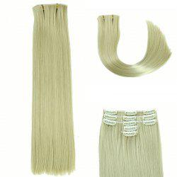Glossy Long Straight Clip-In Synthetic Hair Extension For Women - LIGHT GOLD