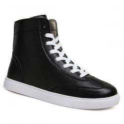 Casual Solid Color and Lace-Up Design Boots For Men -