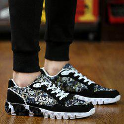 Trendy Splice and Printed Design Athletic Shoes For Men -
