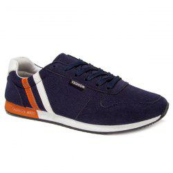 Stylish Tie Up and Splicing Design Athletic Shoes For Men -