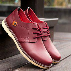 Trendy Solid Colour and Tie Up Design Casual Shoes For Men