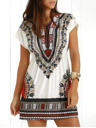 Ethnic Summer Casual Dress With Sleeves - JACINTH