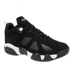 Stylish Lace-Up and Suede Design Athletic Shoes For Men -