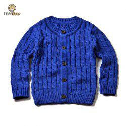 Solid Color Single-Breasted Knitted Cardigan -