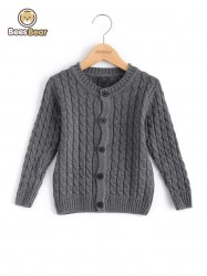 Solide Couleur Single-breasted Cardigan en maille -