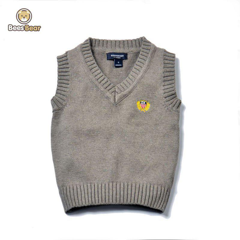 Store V Neck Solid Color Pullover Knitted Waistcoat