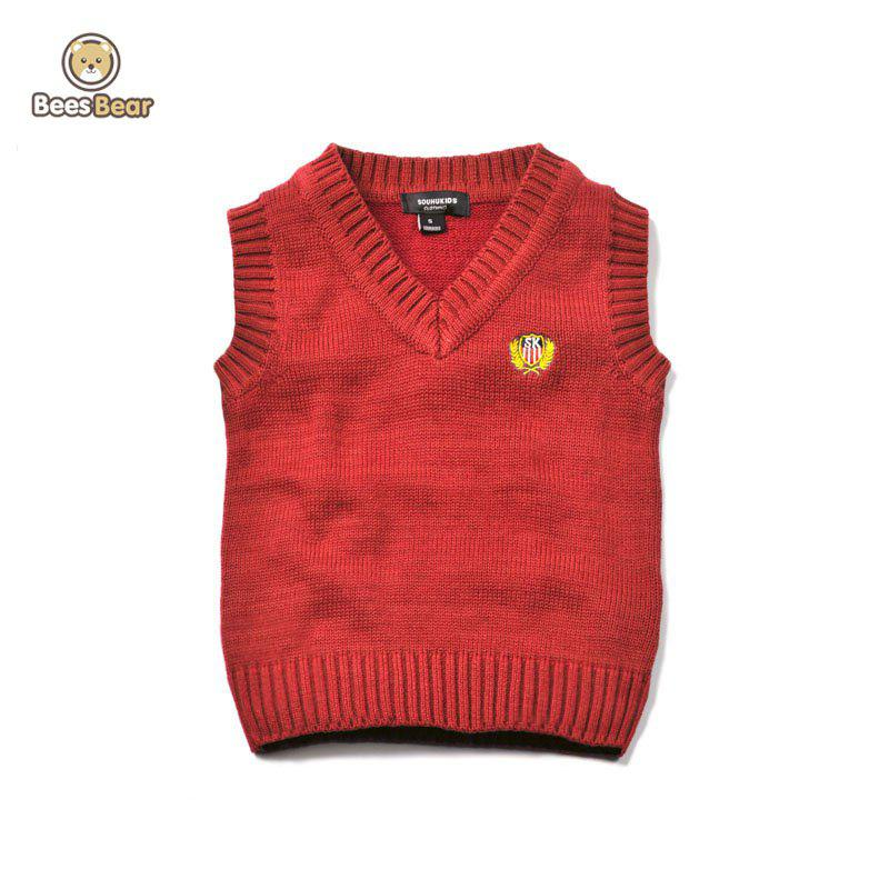 Shops V Neck Solid Color Pullover Knitted Waistcoat