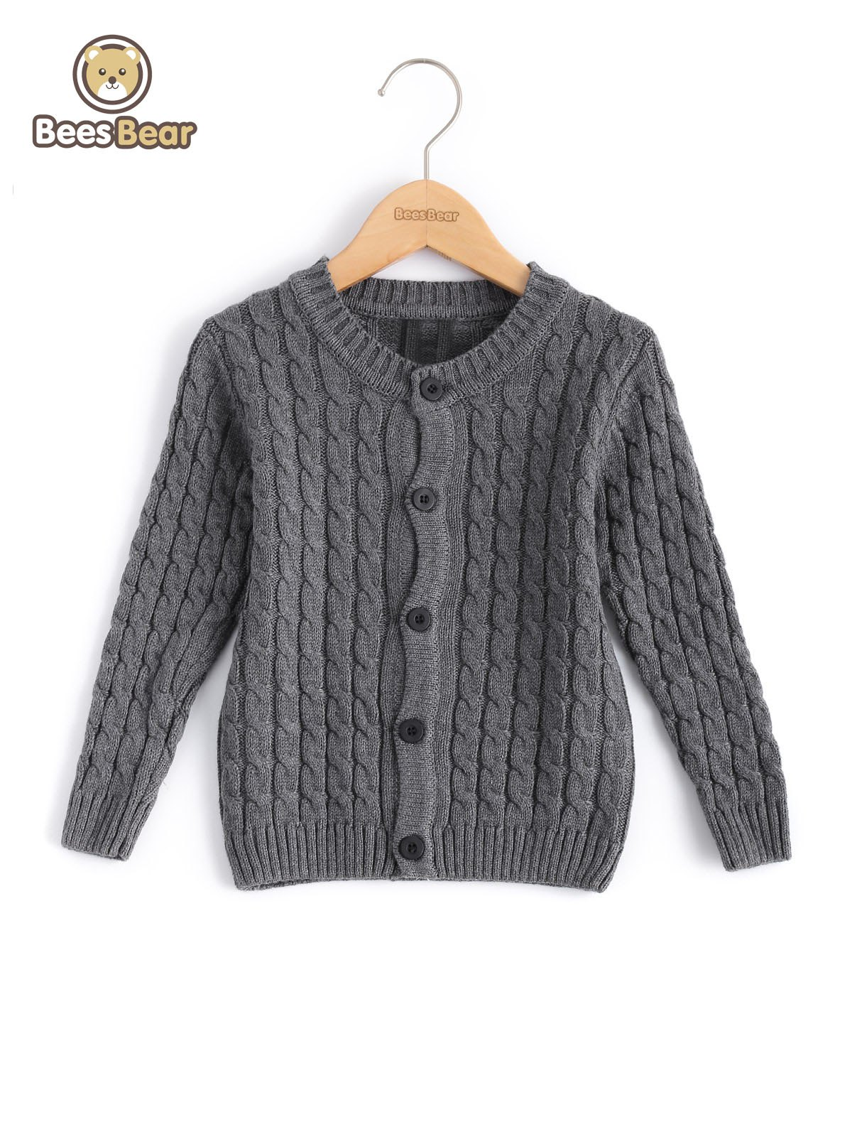 Solide Couleur Single-breasted Cardigan en maille