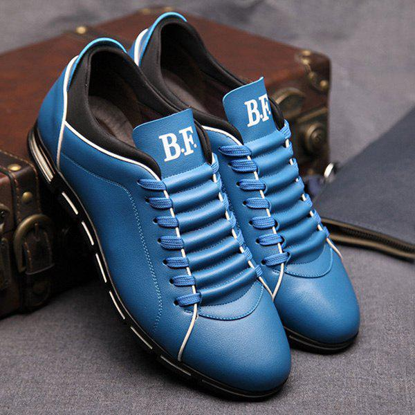 Unique Fashion Splicing and PU Leather Design Casual Shoes For Men